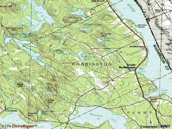 Zip code 04671 topographic map