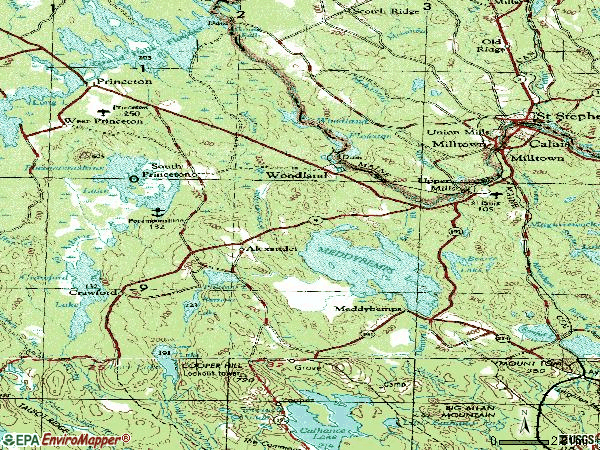 Zip code 04694 topographic map