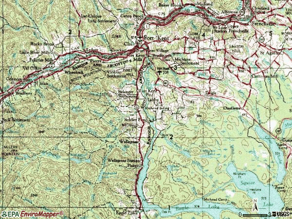 Zip code 04743 topographic map