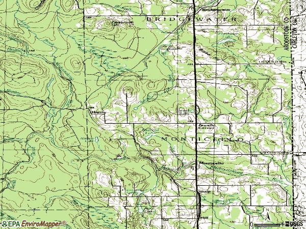 Zip code 04760 topographic map