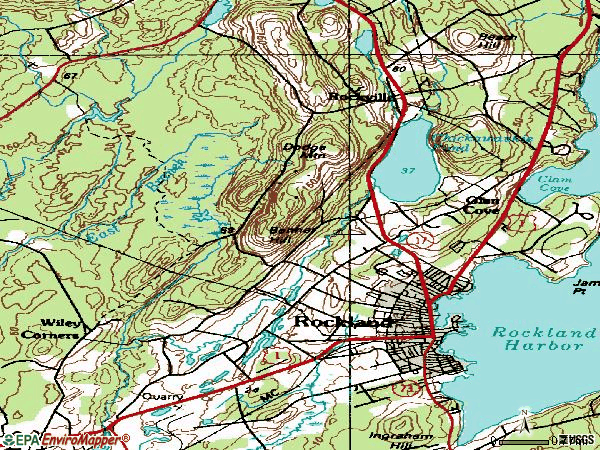 Zip code 04841 topographic map