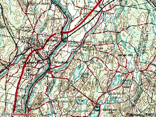 Zip code 04901 topographic map
