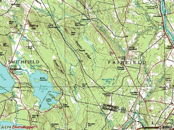 Zip code 04937 topographic map