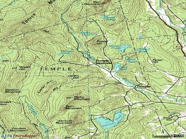 Zip code 04984 topographic map