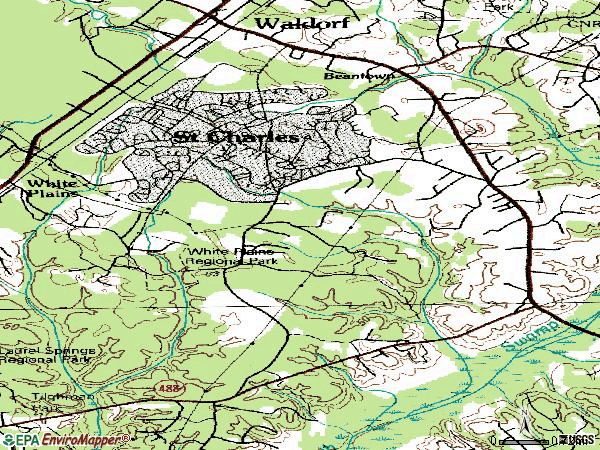 Zip code 20602 topographic map