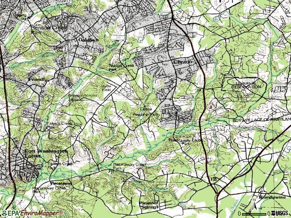 Zip code 20735 topographic map