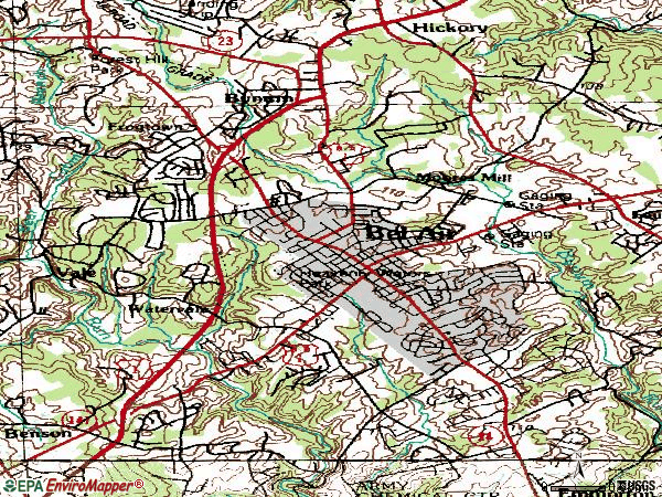 Zip code 21014 topographic map