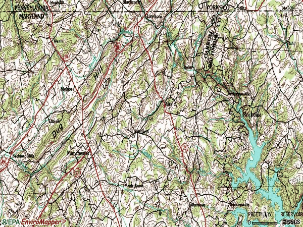 Zip code 21102 topographic map