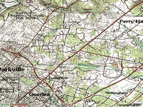 Zip code 21236 topographic map
