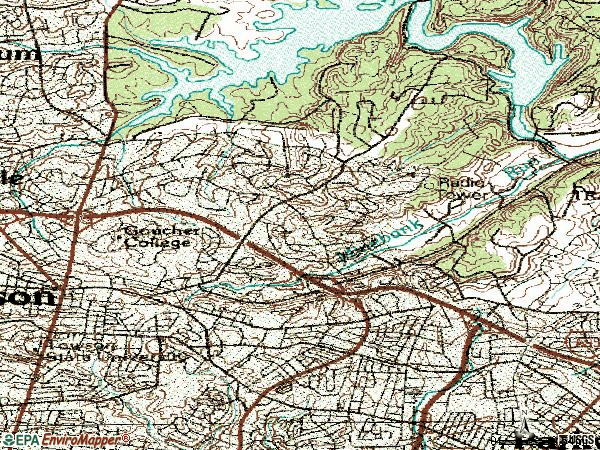 Zip code 21286 topographic map