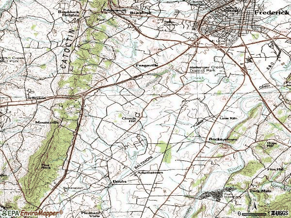 Zip code 21703 topographic map