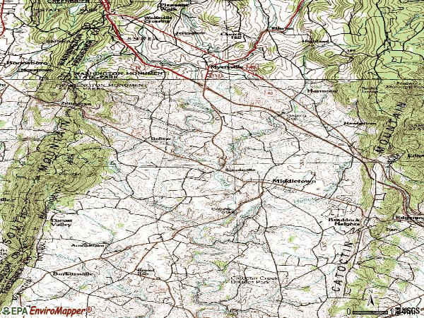 Zip code 21769 topographic map