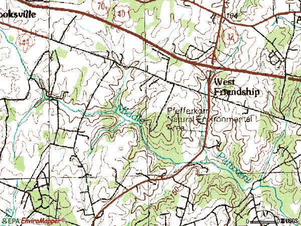 Zip code 21794 topographic map