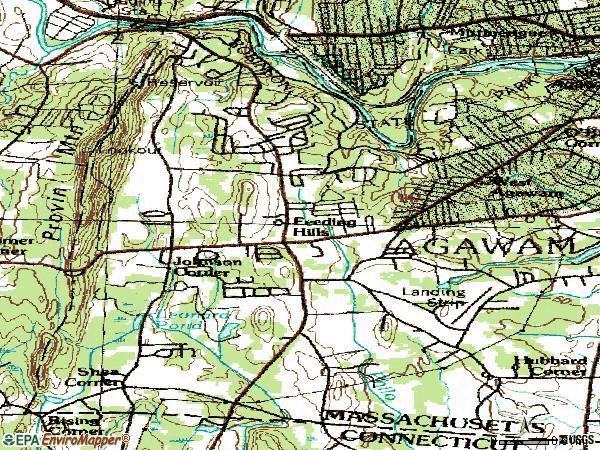 Zip code 01030 topographic map