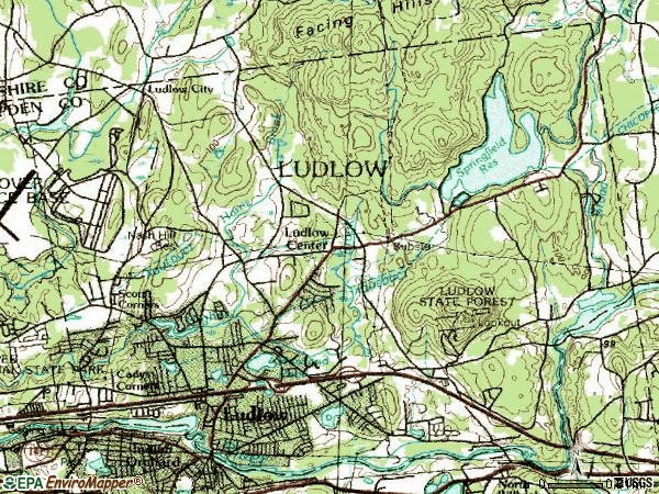 Zip code 01056 topographic map