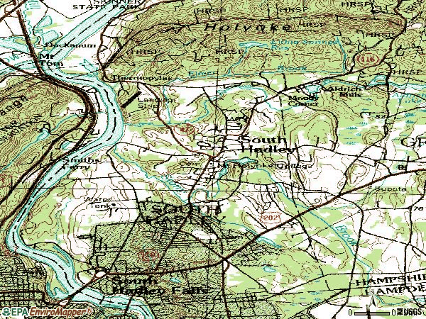 Zip code 01075 topographic map