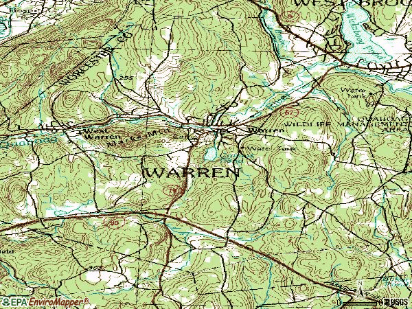 Zip code 01083 topographic map