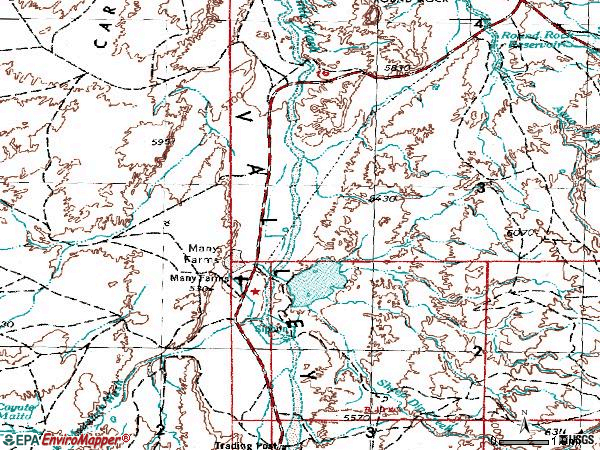 Zip code 86538 topographic map