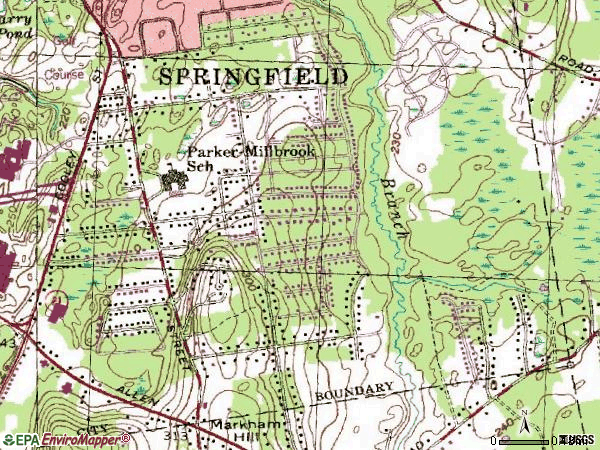 Zip code 01128 topographic map