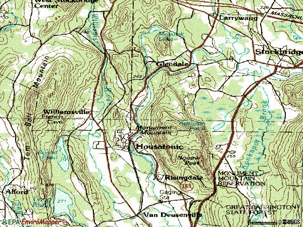 Zip code 01236 topographic map