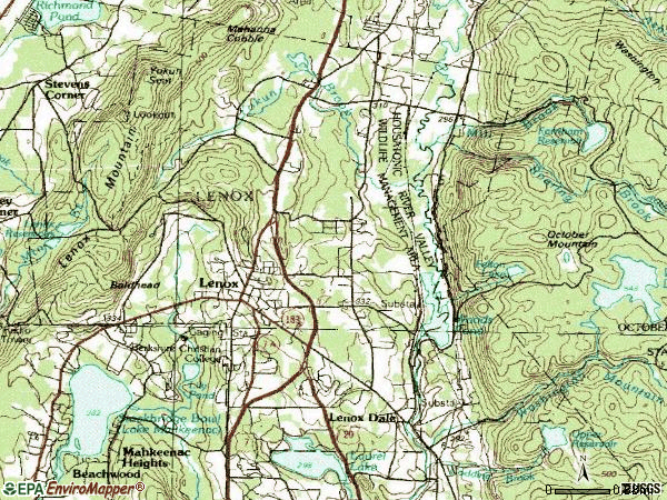 Zip code 01240 topographic map