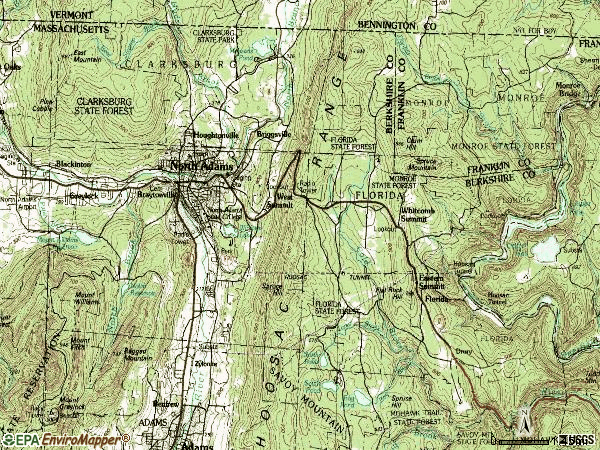 Zip code 01247 topographic map