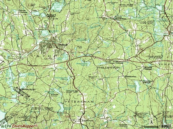 Zip code 01331 topographic map
