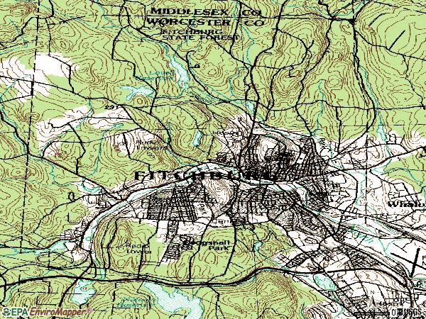 Zip code 01420 topographic map