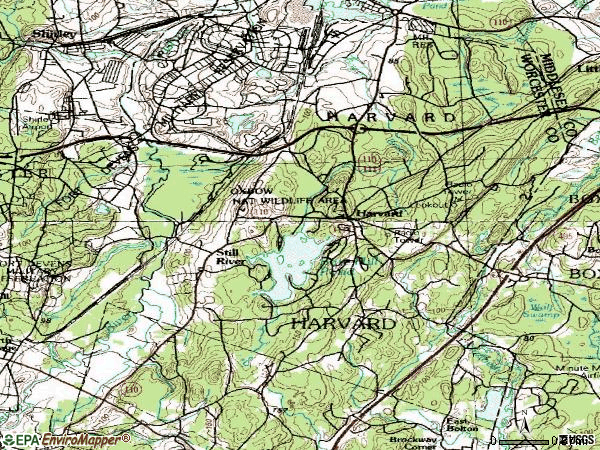 Zip code 01451 topographic map