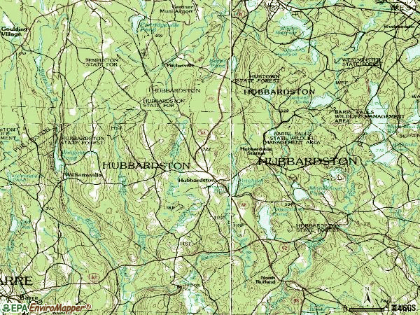 Zip code 01452 topographic map