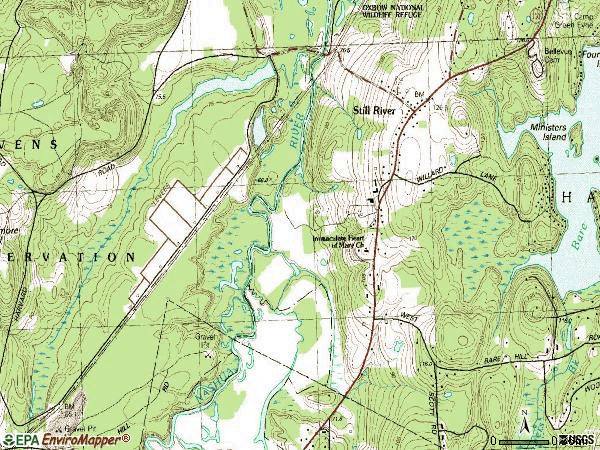 Zip code 01467 topographic map
