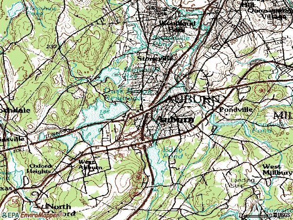 Zip code 01501 topographic map