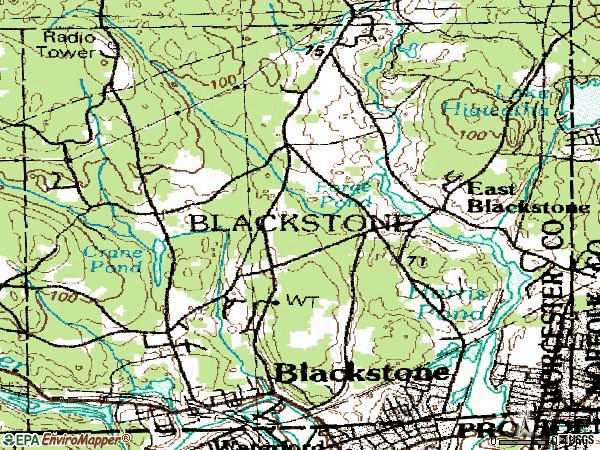 Zip code 01504 topographic map