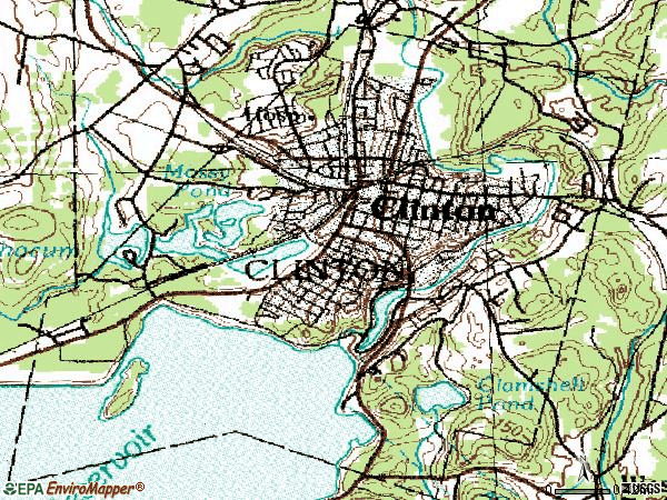 Zip code 01510 topographic map