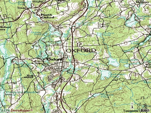 Zip code 01540 topographic map