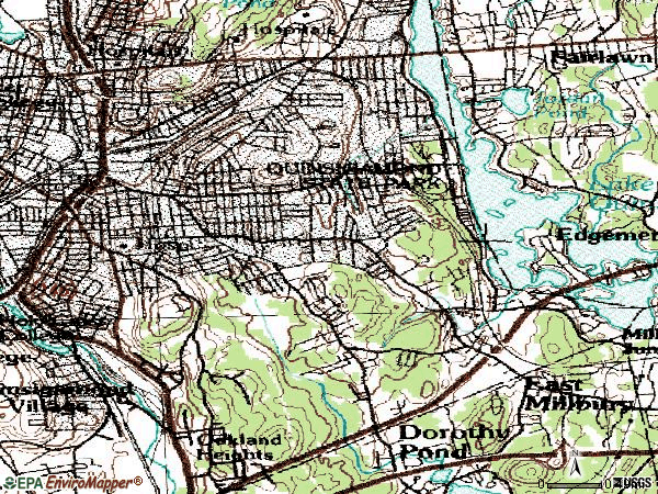 Zip code 01604 topographic map