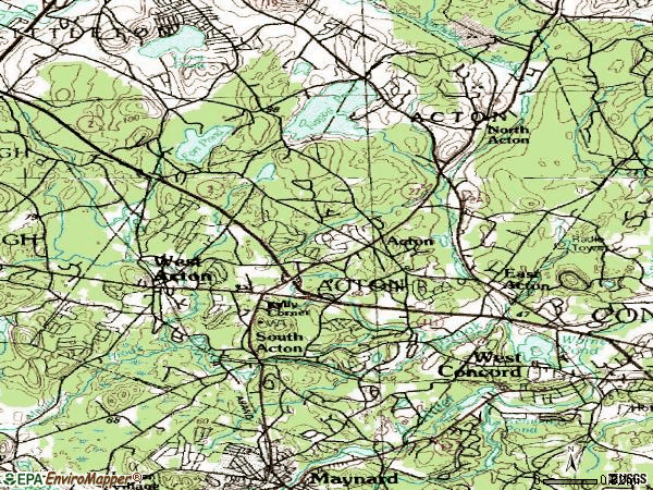 Zip code 01720 topographic map