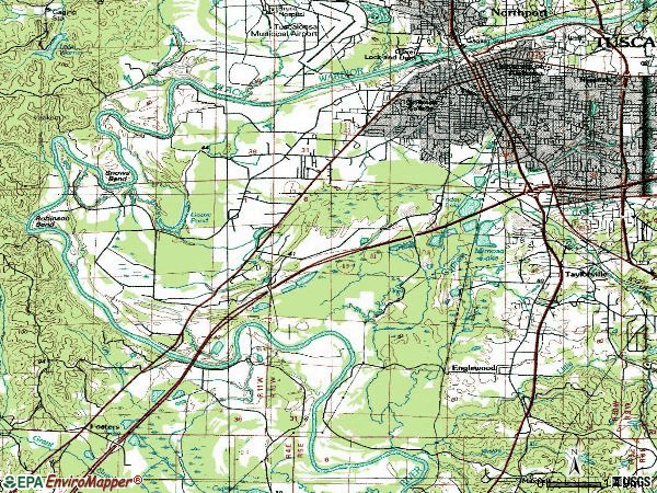 Zip code 35401 topographic map