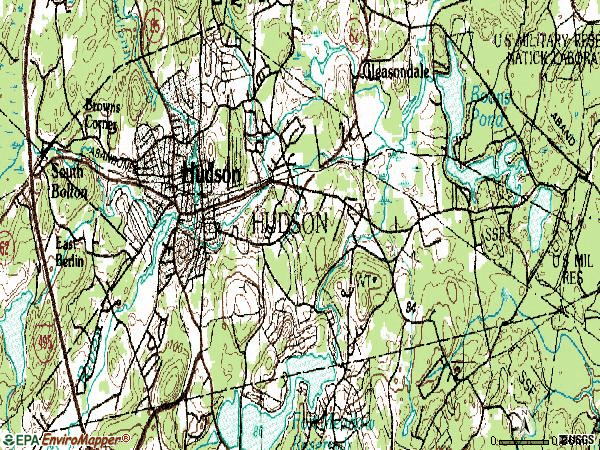Zip code 01749 topographic map