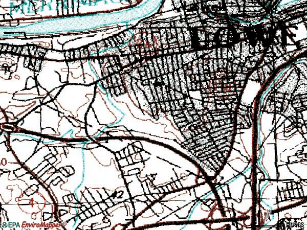 Zip code 01851 topographic map
