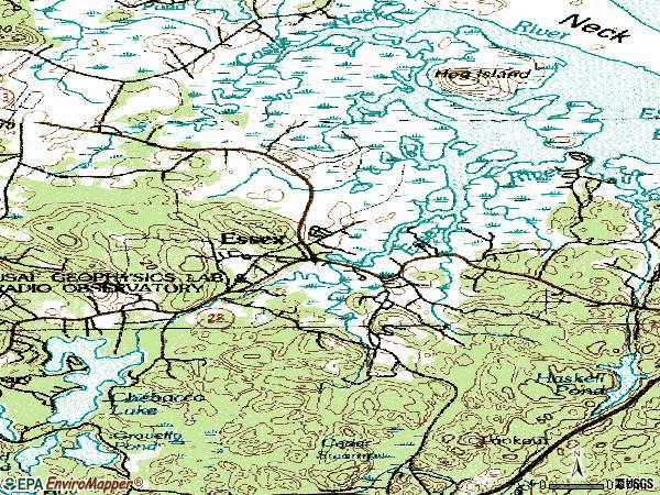 Zip code 01929 topographic map
