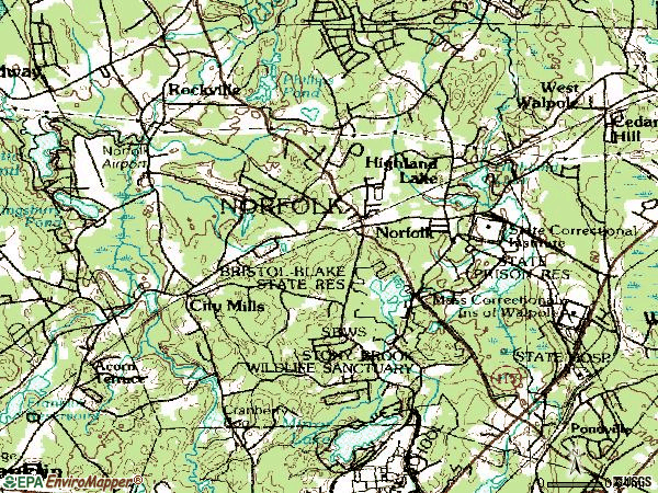 Zip code 02056 topographic map