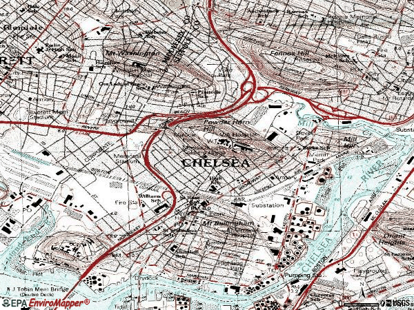 Zip code 02150 topographic map