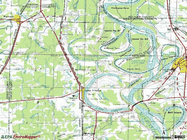 Zip code 71653 topographic map