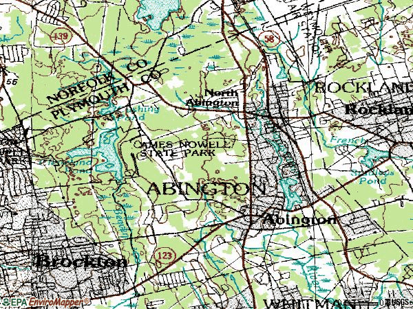 Zip code 02351 topographic map