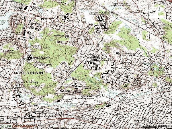 Zip code 02452 topographic map