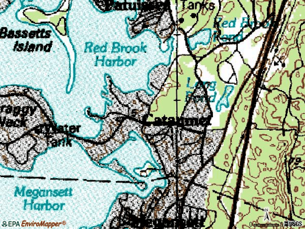 Zip code 02534 topographic map