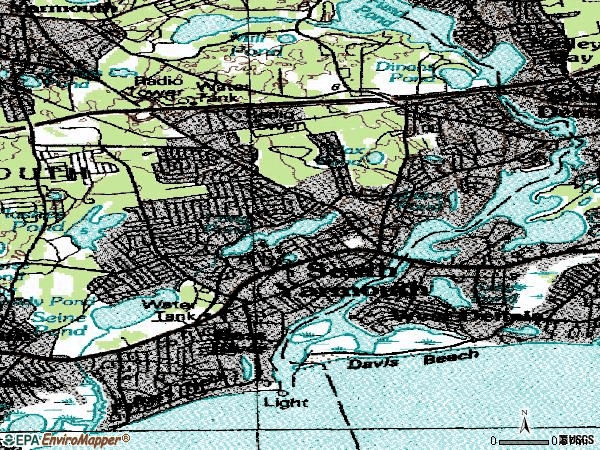 Zip code 02664 topographic map