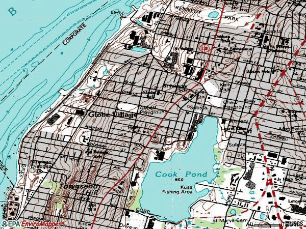 Zip code 02724 topographic map