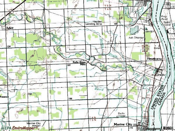 Zip code 48054 topographic map